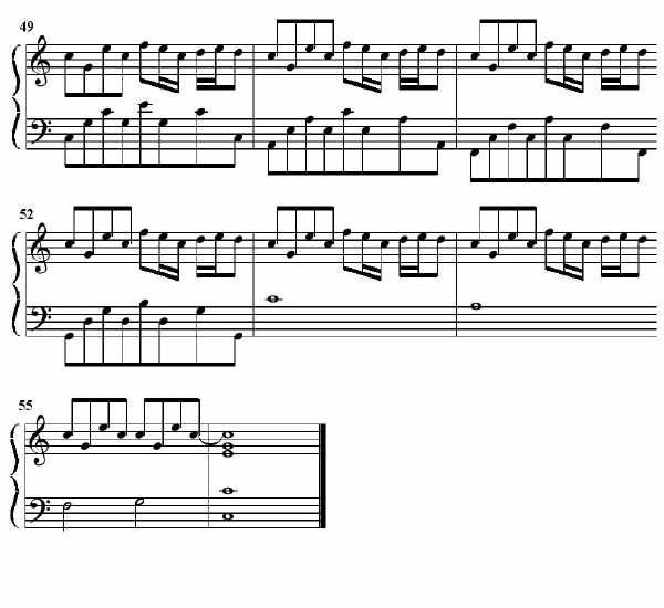 龙卷风 五线谱简谱总谱下载分享 键盘